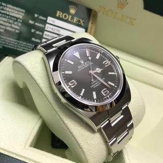 800e3bad39 腕時計 エクスプローラ1 メンズ 【中古】 美品 ロレックス ROLEX ブラックアウト 【本物保証
