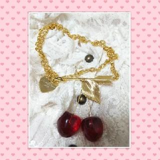 シロップ(syrup.)のローズマリーソワール★arrow cherry necklace ルサロンディ(ネックレス)
