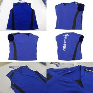カッパ(Kappa)のL 青紺)カッパ KF612TN21 スリーブレスシャツ 袖なしノースリーブ薄手(ウェア)