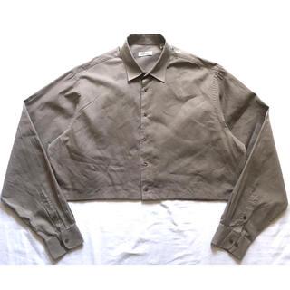 カルバンクライン(Calvin Klein)の80s90s リメイクシャツ ベージュ グレー 古着 XXL 検)whowhat(シャツ)