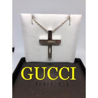 グッチ(Gucci)の[美品]GUCCI カットアウト クロス ネックレス 箱付き(ネックレス)