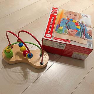 ボーネルンド(BorneLund)のドイツ生まれのハペ ★ルーピング Hape ダブルバブル 6か月〜 ボーネルンド(知育玩具)