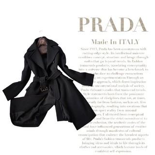 PRADA - 超高級 プラダ 憧れのイタリア製 ベルテッドブラックコート RRADA 送料無料