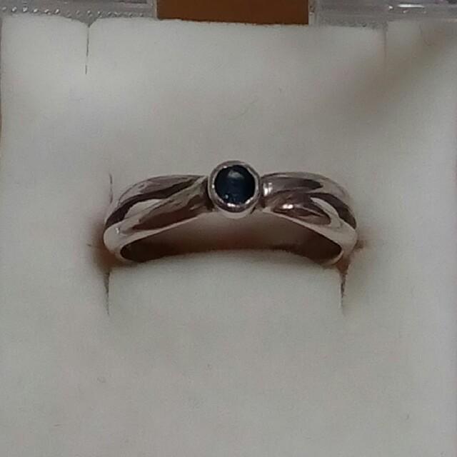 シルバー製 サファイア リング 指輪 9号 レディースのアクセサリー(リング(指輪))の商品写真