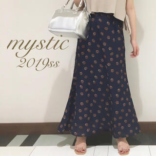 mystic - 新品🍒¥6372【mystic】レトロフラワーマーメイドスカート
