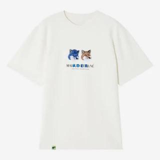 メゾンキツネ(MAISON KITSUNE')のadererror maisonkitsuneダブルフォックスTシャツ(Tシャツ/カットソー(半袖/袖なし))