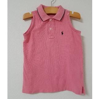 ラルフローレン(Ralph Lauren)のRALPH LAUREN ラルフローレン ポロシャツ ノースリーブ ピンク(ブラウス)