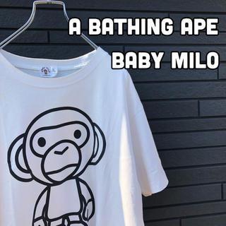 アベイシングエイプ(A BATHING APE)の【グッドデザイン】APE マイロ Tシャツ デカロゴ 90's(Tシャツ/カットソー(半袖/袖なし))