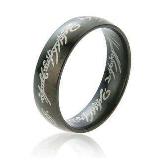 ロードオブザリング 刻印リング☆ブラック 単品(リング(指輪))