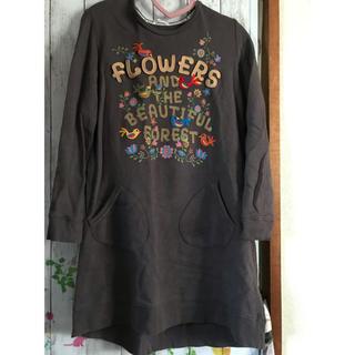 ラフ(rough)のラフ スエットワンピースとフード付きビックTシャツ(ひざ丈ワンピース)