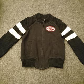 ギャップ(GAP)のGAP キッズ ニットジャケット 上着 ジッパー ジャンパー 黒系 (ジャケット/上着)