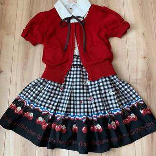Ank Rouge - Ank Rouge アンクルージュ ギンガム チェリー柄スカート