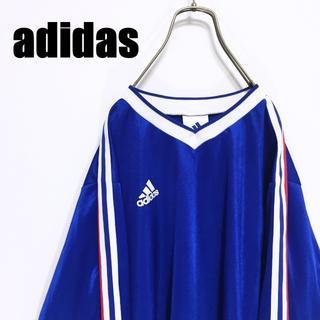 アディダス(adidas)の90s adidas アディダス Tシャツ ゲームシャツ ロンT 長袖(Tシャツ/カットソー(七分/長袖))