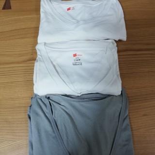 ユニクロ(UNIQLO)のメンズ 肌着&Tシャツ3枚まとめ売り ユニクロ エアリズム&Hanes(Tシャツ/カットソー(半袖/袖なし))