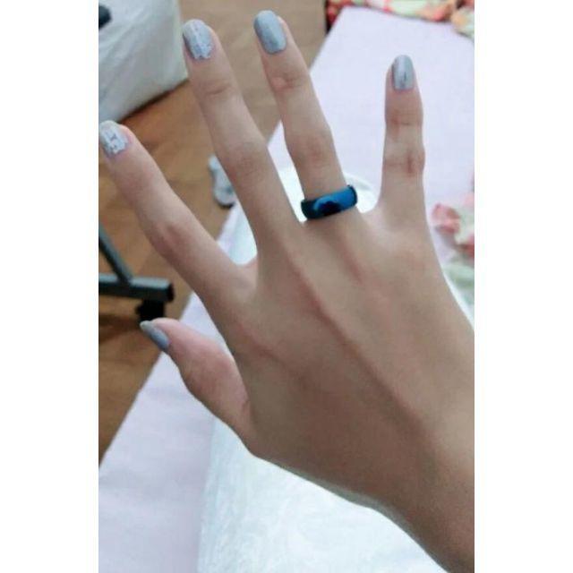 メタルブルーリング 単品 メンズのアクセサリー(リング(指輪))の商品写真