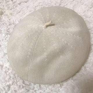 レイビームス(Ray BEAMS)のbeams 白いベレー帽値 再値下げ!!(ハンチング/ベレー帽)