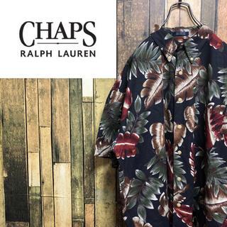 Ralph Lauren - 【激レア】チャップスラルフローレン☆ビッグボタニカル半袖総柄アロハシャツ 90s