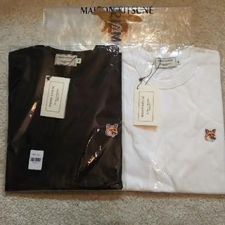 メゾンキツネ(MAISON KITSUNE')の2枚セット! Maison kitsune ヘッドパッチ (Tシャツ/カットソー(半袖/袖なし))