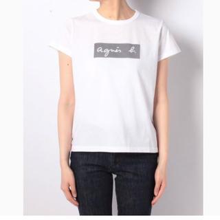 アニエスベー(agnes b.)の新品未使用 アニエスベー ボックスロゴTシャツ 白(Tシャツ(半袖/袖なし))