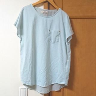 ダブルネーム(DOUBLE NAME)のシースルー ギャラクシー Tシャツ DOUBLE NAME(Tシャツ(半袖/袖なし))
