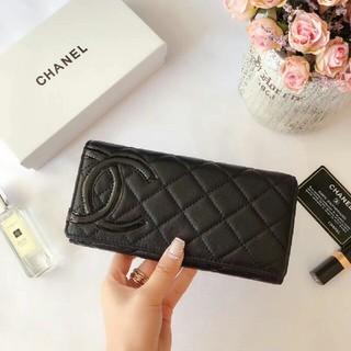 シャネル(CHANEL)のCHANEL シャネル 財布 ブラック(折り財布)