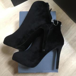 黒 ショートブーツ スエード(ブーツ)