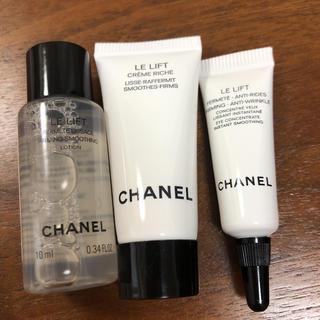 CHANEL - CHANEL シャネル ローション、クリーム、目元美容液サンプルセット