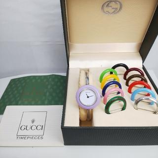 Gucci - GUCCI 腕時計 チェンジベゼル 稼働中 t73