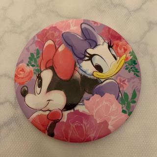 ミニーマウス - ミニーマウス デイジーちゃん缶バッジ フラワーフローラル 新品