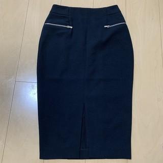 エイチアンドエム(H&M)のH&M 膝下丈 タイトスカート 黒 キレイ系(ひざ丈スカート)