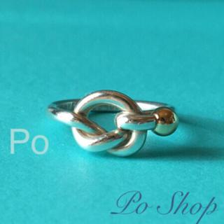 ティファニー(Tiffany & Co.)のTIFFANY&CO. ラブノット リング    シルバー&ゴールド(リング(指輪))