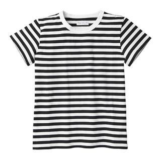 アニエスベー(agnes b.)の美品☆アニエスベー  ボーダー Tシャツ 黒×白 半袖 サイズ2 agnes.b(Tシャツ(半袖/袖なし))