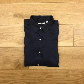 ユニクロ(UNIQLO)の2回程度の着用!リネン100%シャツ(シャツ/ブラウス(長袖/七分))