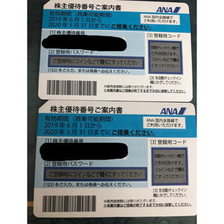 ANA(全日本空輸) - ANA 株主優待券 2枚セット 2020年5月31日まで