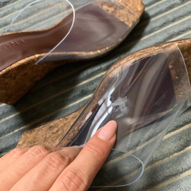 ZARA(ザラ)の!!30日まで限定値下げ!!トランク88 クリアサンダル コルク ウェッジ M レディースの靴/シューズ(サンダル)の商品写真
