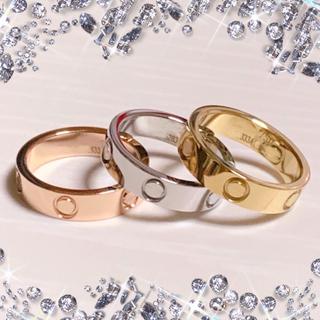 とても可愛いlovelyリング♡スリムタイプ♡サージカルステンレス製(リング(指輪))