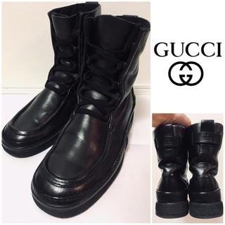 グッチ(Gucci)のGUCCI☆ブーツ☆ブラック☆本革☆レザーシューズ☆(ブーツ)