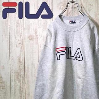 フィラ(FILA)のフィラ スウェット 裏起毛 ビッグシルエット メイドインカナダ 90s.(スウェット)