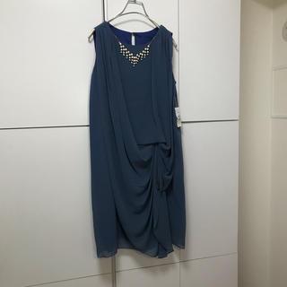 スコットクラブ(SCOT CLUB)の75❤️新品メトリーゼMAITRESSE ネックレス付ドレープワンピースドレス(ミディアムドレス)