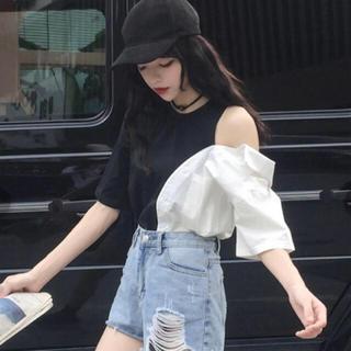 dholic - ワンショルカットソー 韓国ファッション オルチャン