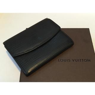 ルイヴィトン(LOUIS VUITTON)のヴィトン  エピ 黒 コインケース 財布 パスケース カードケース ダミエ(コインケース/小銭入れ)