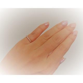 ビジュソフィア K10PG ダイヤ エタニティ ピンキーリング festaria(リング(指輪))