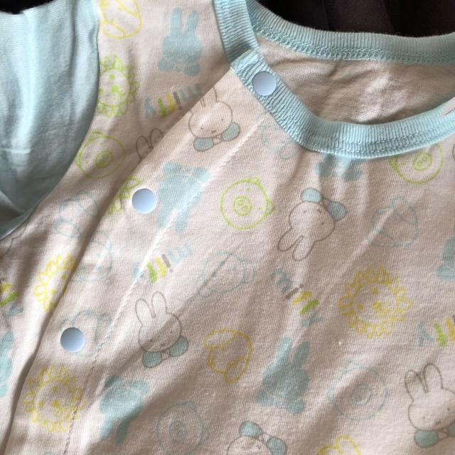 しまむら(シマムラ)のバースデイ ミッフィー miffy ロンパース カバーオール キッズ/ベビー/マタニティのベビー服(~85cm)(ロンパース)の商品写真
