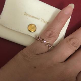 サマンサティアラ(Samantha Tiara)のサマンサティアラ5連ハートピンクサファイヤリング(リング(指輪))