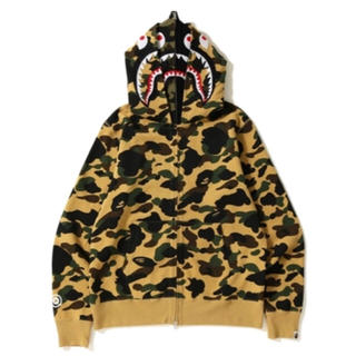アベイシングエイプ(A BATHING APE)のSHARK WIDE FULL ZIP DOUBLE HOODIE (パーカー)