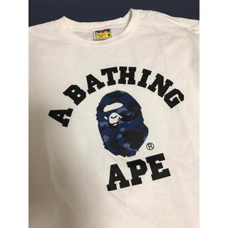 アベイシングエイプ(A BATHING APE)の美品☆ A BATHING APE ☆1ST CAMO COLLEGE TEE (Tシャツ/カットソー(半袖/袖なし))