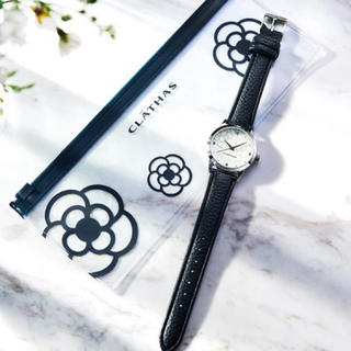 クレイサス(CLATHAS)のsteady. 5月号 付録 クレイサス 腕時計&クリアケース(腕時計)