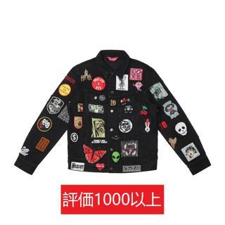 シュプリーム(Supreme)のSupreme Patches Denim Trucker Jacket 黒S(Gジャン/デニムジャケット)