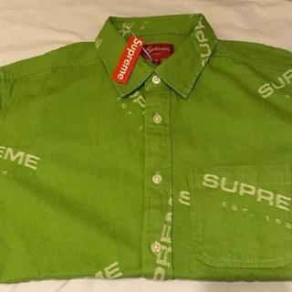 シュプリーム(Supreme)のSupreme Jacquard Denim Shirt 緑 Lime M(シャツ)