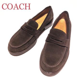 コーチ(COACH)の30.COACH コーチ ペニー コインローファー スエード 7.5B(スリッポン/モカシン)